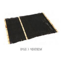 "Salvamanten rectangular,  28,5x47cm. Modelo: "" Negro-bambu""."