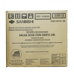 Salsa soja Japonesa (SANBISHI) 20 Lt