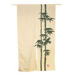 """Noren 85x150cm """"bambú beige-verde"""""""