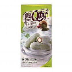 Mochi rollo rellena de crema de te verde y leche 150g