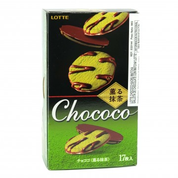 Galleta de chocolate con matcha (Lotte) 98g