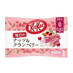 Kit kat chocolate ruby con nueces y arándano rojo 109g
