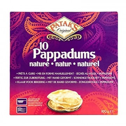 Tortitas Pappadums (PATAK'S) 6uds. 100g