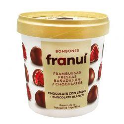 Frambuesa Helada cubierta de Chocolate con Leche (FRANUI)