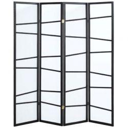 "Biombo 4 Paneles ""Negro Asimétrico"" 174x178cm"