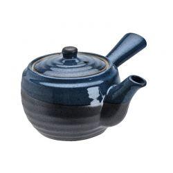 """Tetera de Porcelana con Mango 400mlt """"Grafito Azul"""""""
