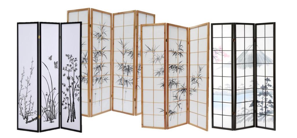 Nuevos biombos japoneses oriental market - Que es un biombo ...