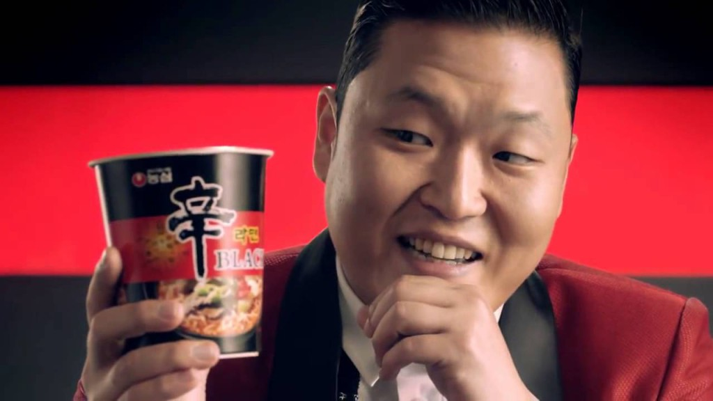 Noodles Nong Shim con PSY