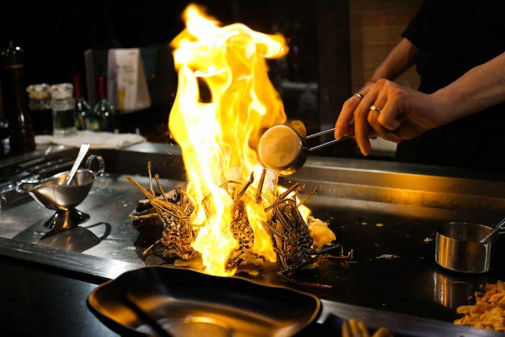 plancha teppanyaki japonesa
